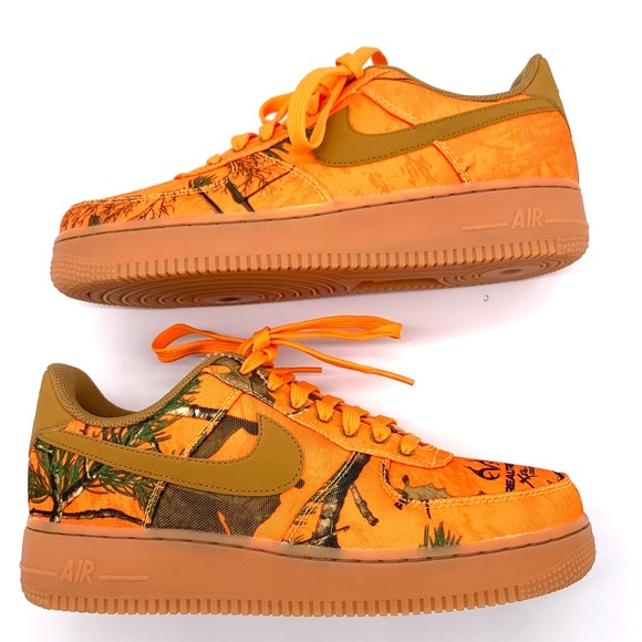 Vislumbrar Precipicio ranura  New NIKE Air Force 1 Low LV8 Camo Realtree Shoes Mens all sizes orange